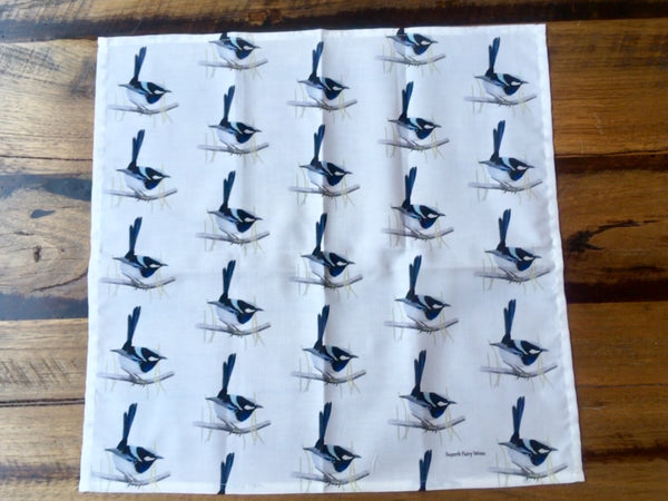 Superb Fairy Wren Napkins Serviettes Repeating Pattern Single Napkin