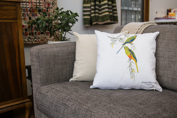 Cushion Covers - Orange Bellied Parrot