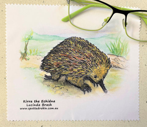 Microfibre Eyeglass Cleaning Cloth - Kirra the Echidna