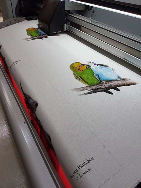 Tea Towel - Budgie Love