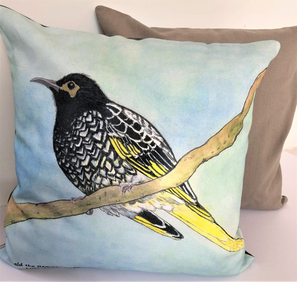 Cushion Cover - Reginald the Regent Honeyeater