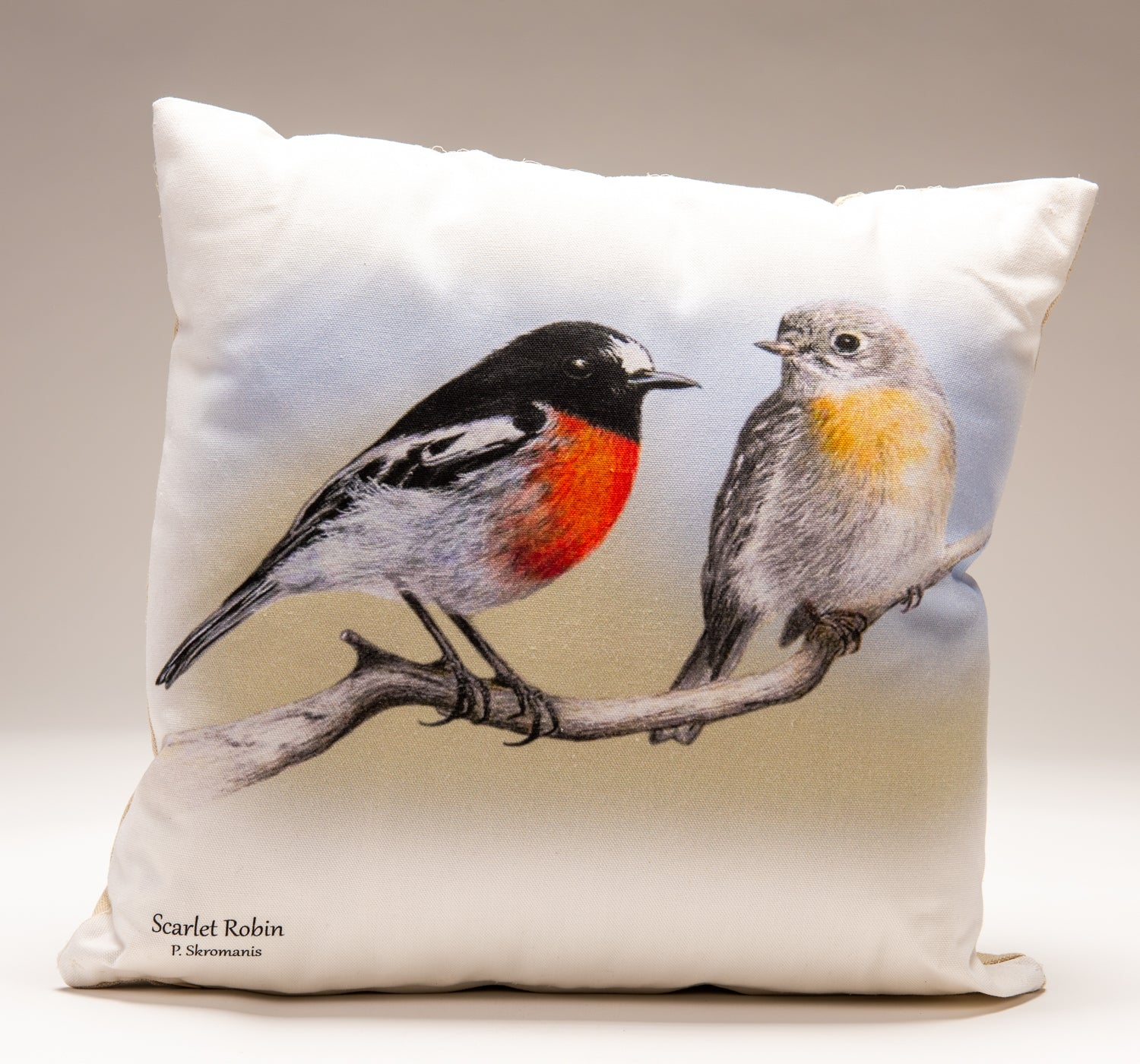 Cushion Covers - Scarlet Robin