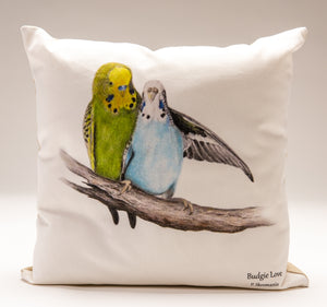 Cushion Covers - Budgie Love