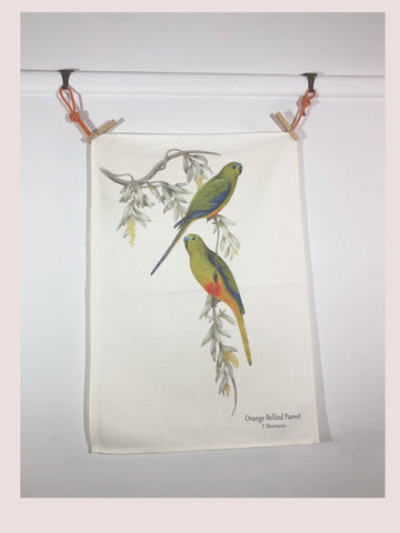 Tea Towel - Orange Bellied Parrot