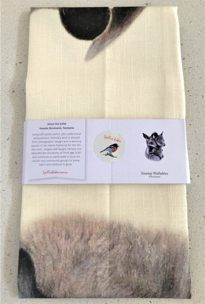 Tea Towel - Swamp Wallabies