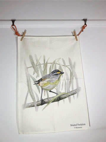 Tea Towel - Striated Pardalote