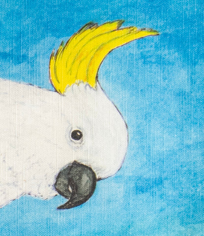 Tea Towel - Waru the Sulphur-Crested Cockatoo