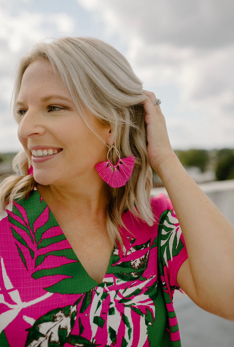 More Than Earrings : Fuchsia