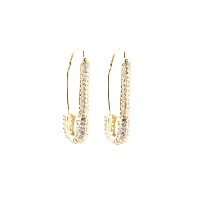 Safety First Earrings : Gold