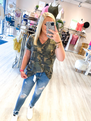 Once In Life Top : Camo