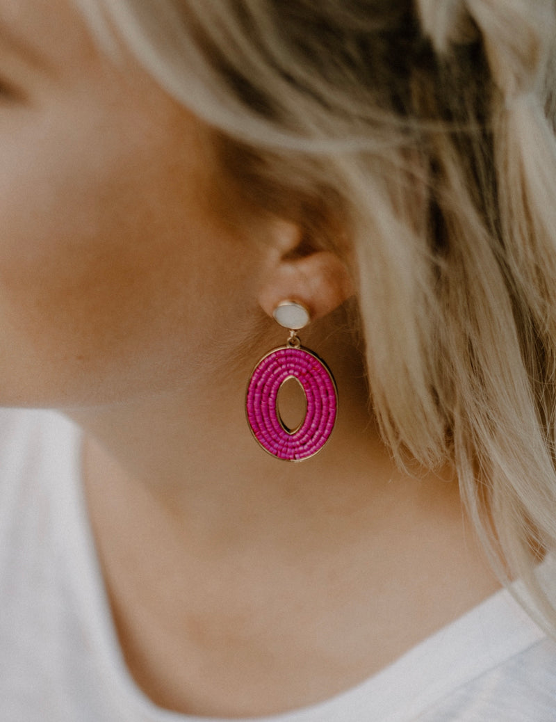 Out There Earrings : Fuchsia