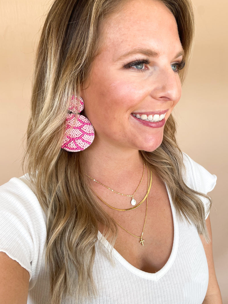 Beauty Queen Earrings : Pink