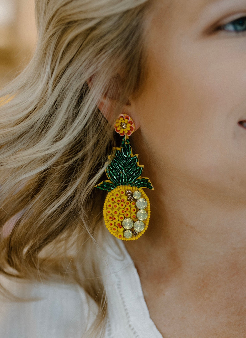 Pretty Pineapple Earrings