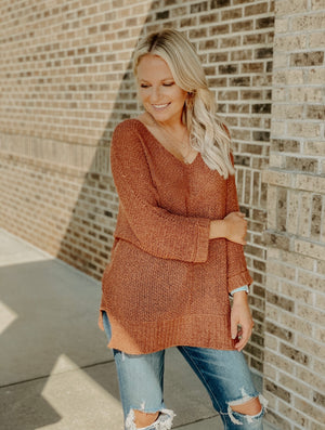 All That Matter Sweater : Rust