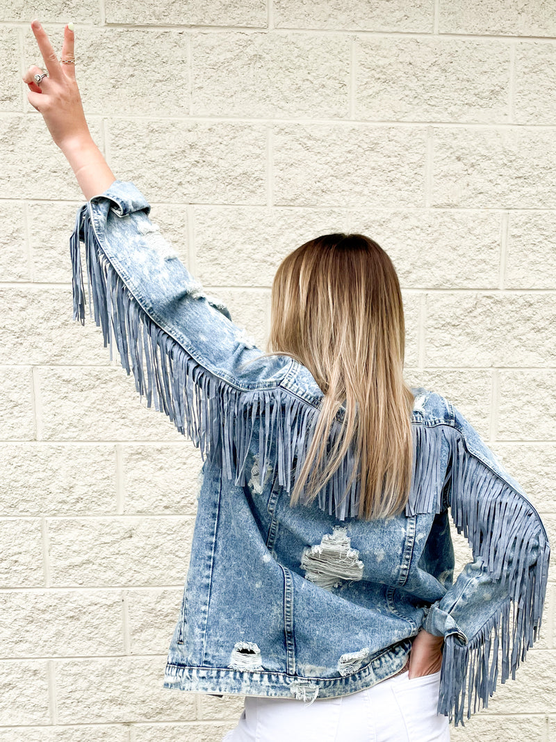 Oh My Fringe Jacket : Denim