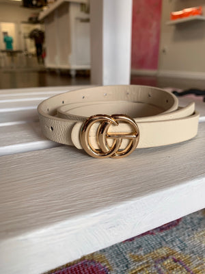 Cream GG Belt