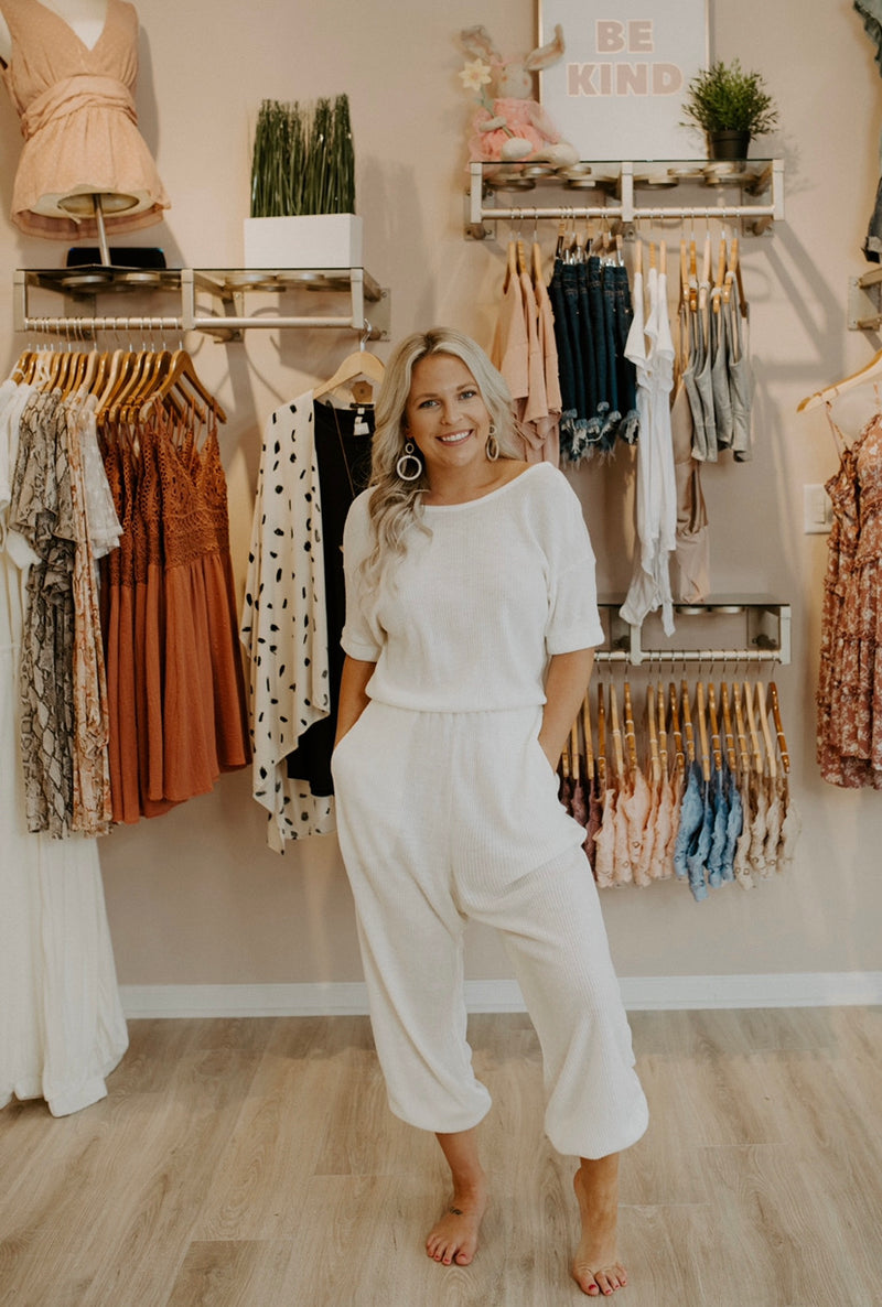 That Feeling Jumpsuit : Cream