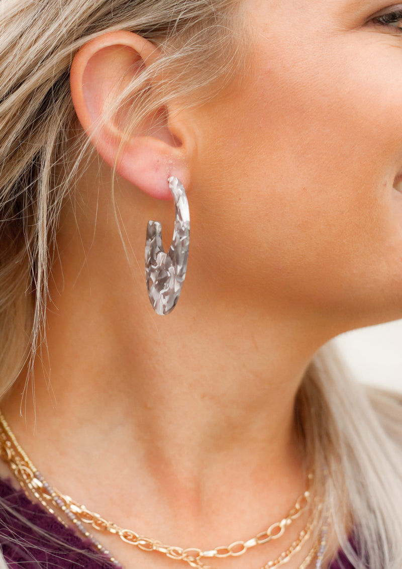 Feel Selfish Earrings : Grey