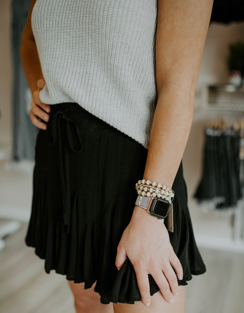 All The Little Things Skirt : Black