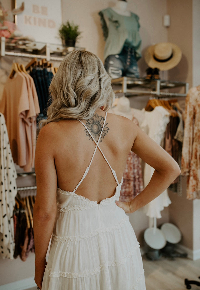 Keep Wishing Dress : Ivory