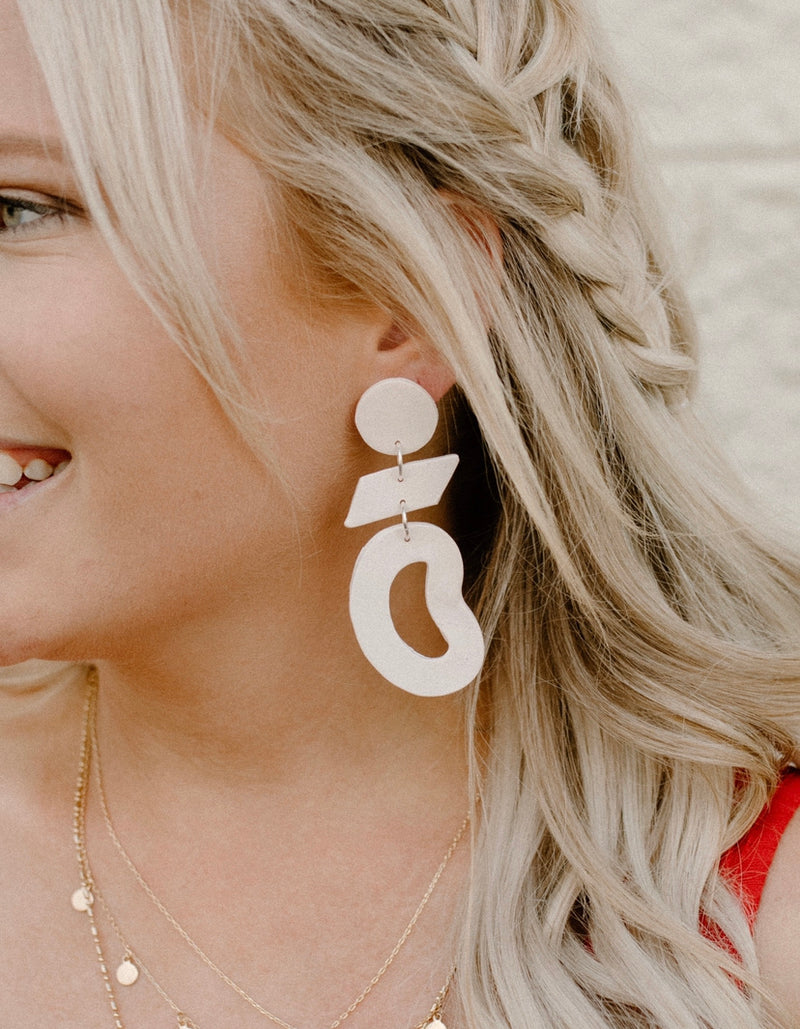 Neutral Nudes Clay Earrings