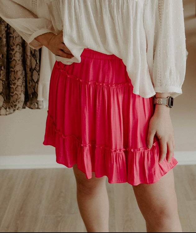 Sweetheart Skirt : Hot Pink