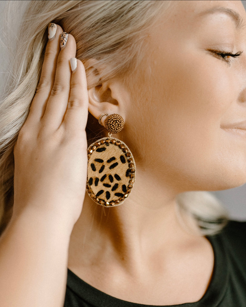 So Bold Earrings : Cheetah