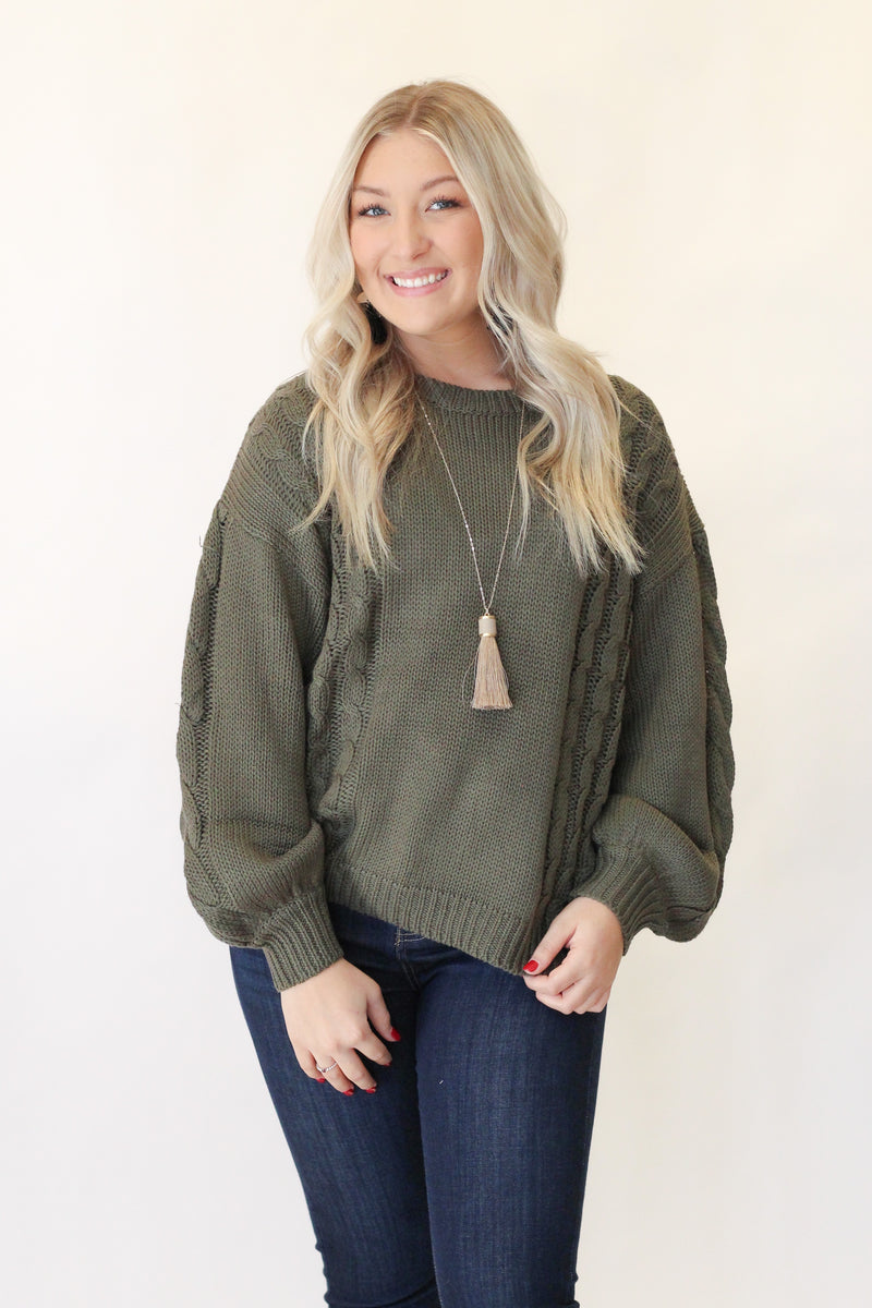 Been Forever Sweater : Olive