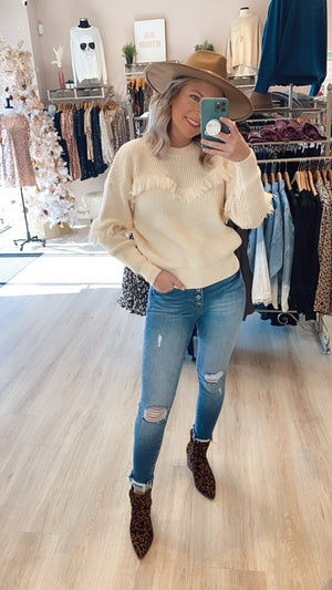 Give Attitude Sweater : Ivory
