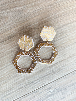 Hive Honeybee Clay Earrings