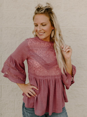 Stay With Me Top : Mauve