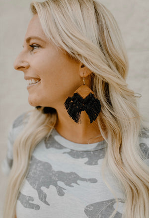 Boho Earrings : Black