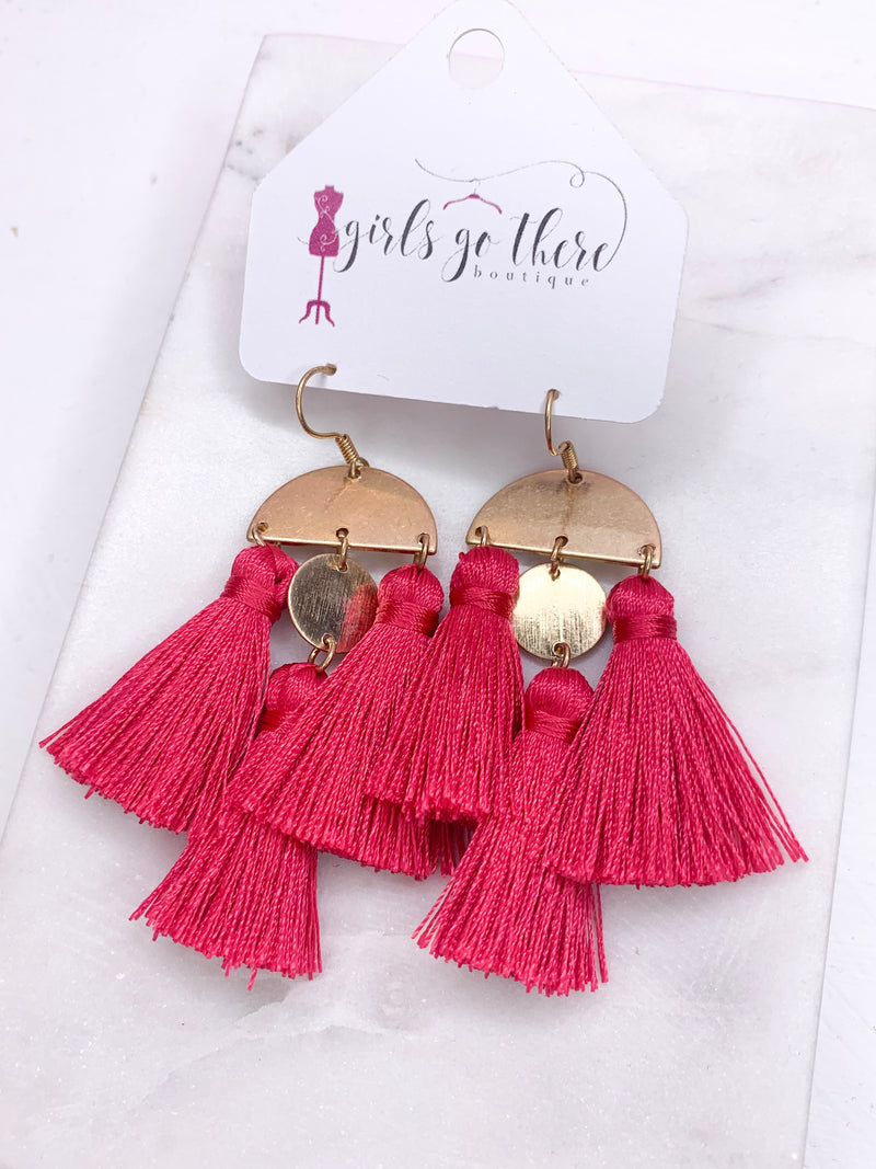 Bad Reputation Earrings : Pink