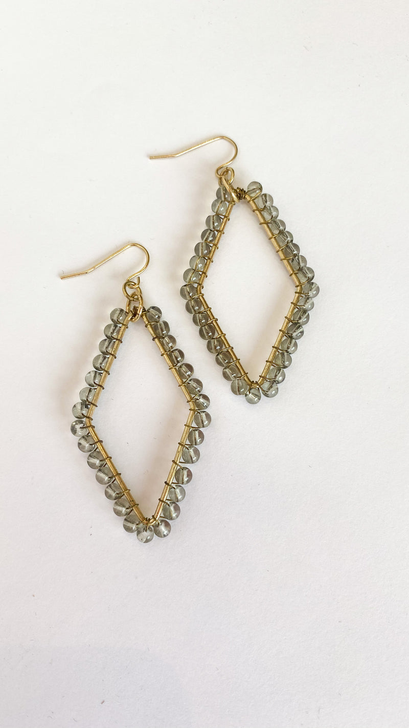Be Friends Earrings : Olive