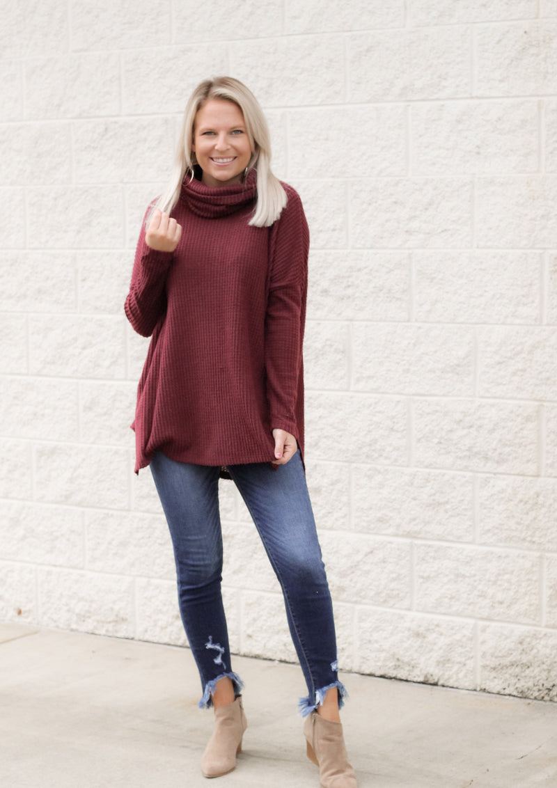 Come On Sweater : Dk Burgundy