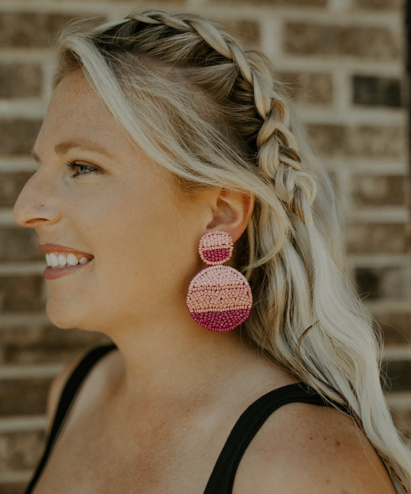 Round & Round Earrings : Pink