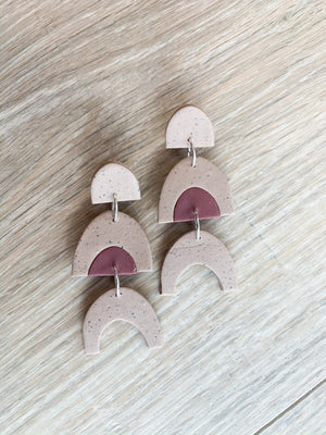Subtle Rainbow Clay Earrings