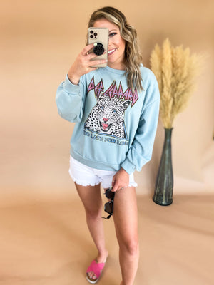 Too Late For Love Sweatshirt : Blue