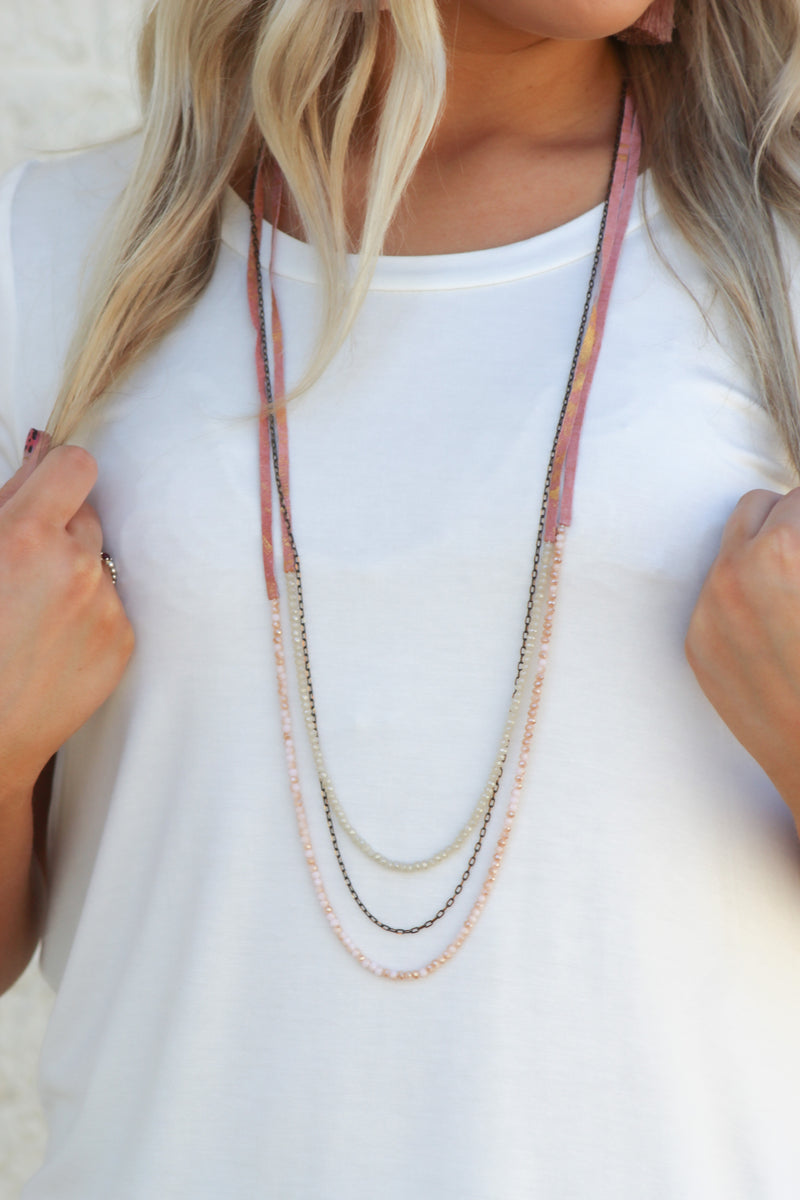 To You Necklace : Mauve