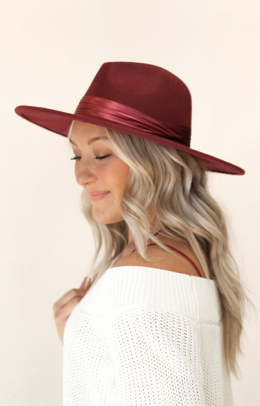 Never Again Hat : Burgundy