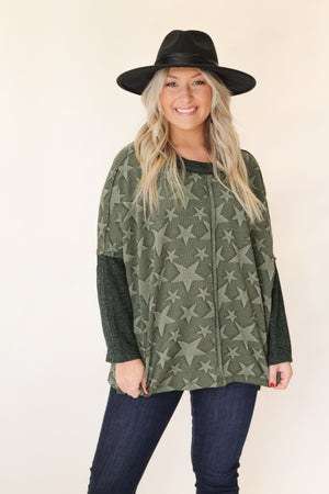 Feels Like Love Sweater : Olive