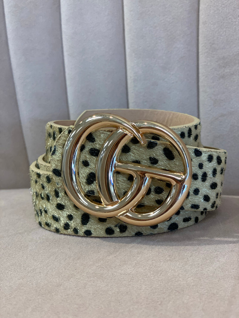 Dotted GG Belt : Natural