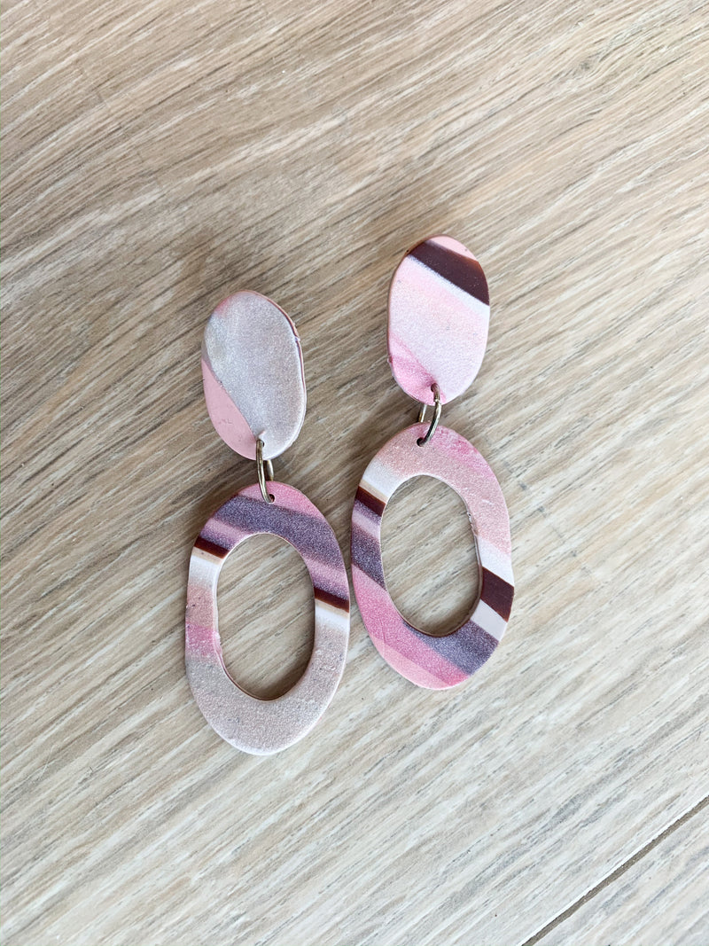 Modern Shine Clay Earrings