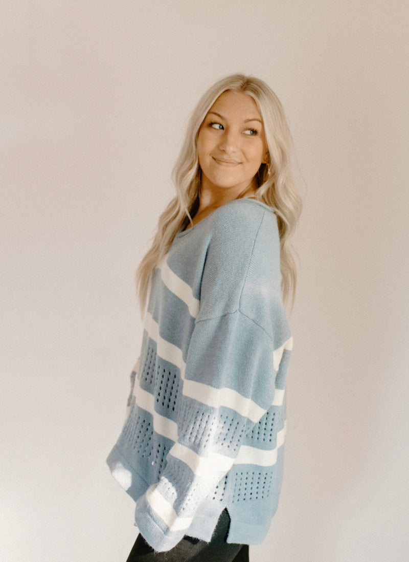 Small Town Sweater : Periwinkle