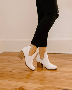 Sit Still Booties : White