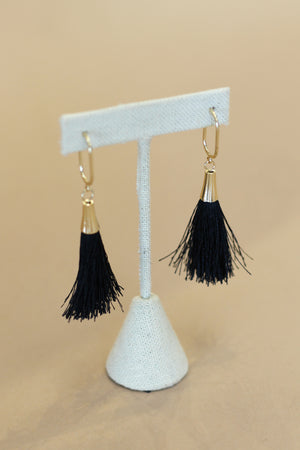 Up Front Earrings : Black