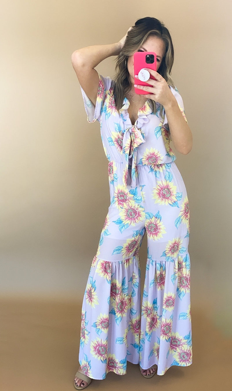 Sunrise Jumpsuit : Lavender