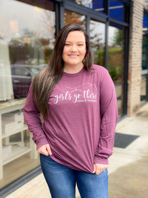 GGT Long Sleeve Tee : Heather Maroon