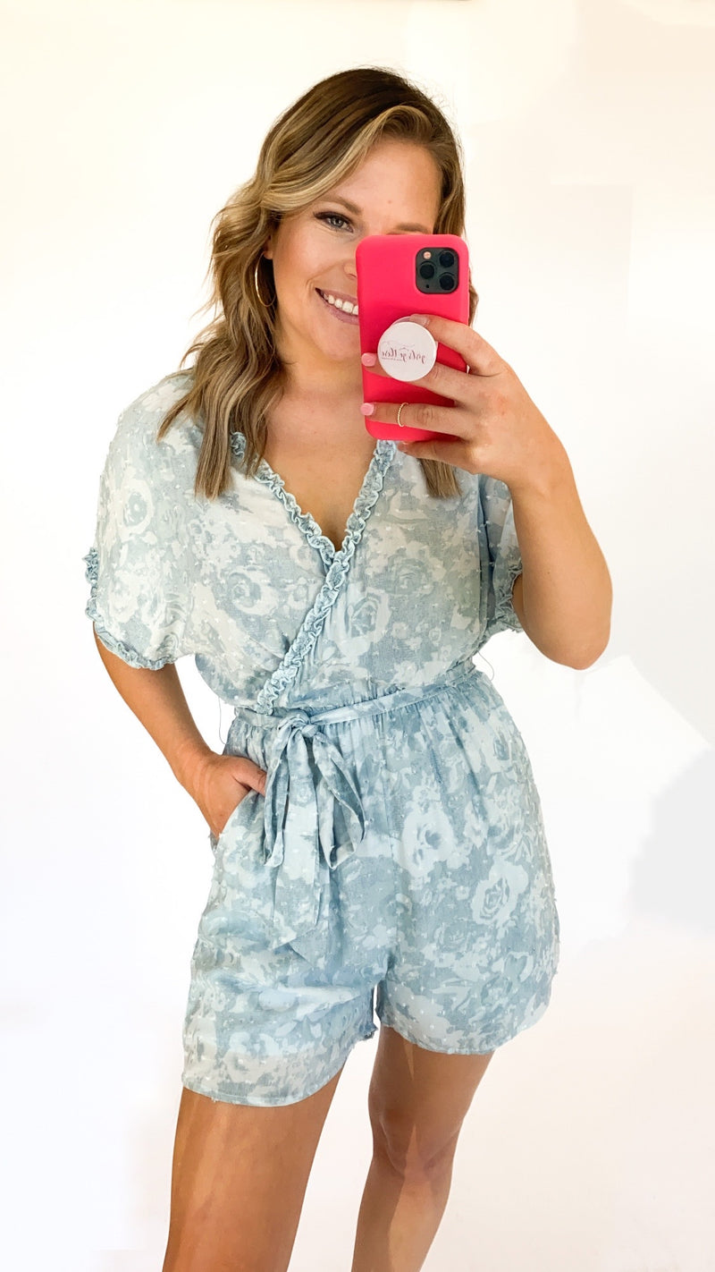 Need To Hold On Romper : Blue