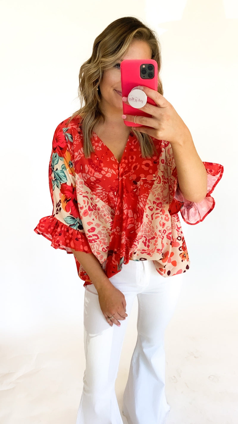 Found Love Top : Coral
